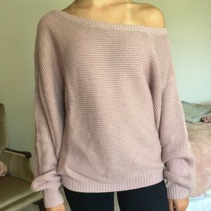 NWT Oversized cold shoulder sweater